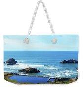 Seascape San Francisco Sutro Bath Pacific Ocean Shore Weekender Tote Bag