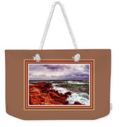 Seascape Scene On The Coast Of Cornwall L B With Alt. Decorative Ornate Printed Frame. Weekender Tote Bag
