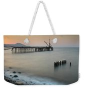 Seascape With Deserted Jetty During Sunset Weekender Tote Bag