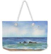 Seascape With Three Rocks Weekender Tote Bag