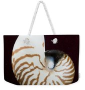 Seashell On Black Background Weekender Tote Bag