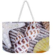 Seashells And Starfish Weekender Tote Bag