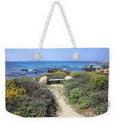 Seaside Bench Weekender Tote Bag