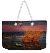 Seaside Bottle At Sunset Weekender Tote Bag