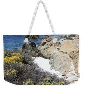 Seaside Flowers And Rocky Shore Weekender Tote Bag