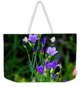 Seaside Gentian Wildflower  Weekender Tote Bag