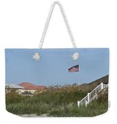 Seaside Patriotism Weekender Tote Bag