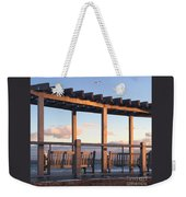 Seaside Seating  Weekender Tote Bag