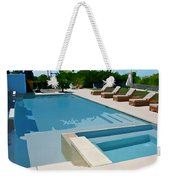 Seaside Swimming Pool As A Silk Screen Image Weekender Tote Bag