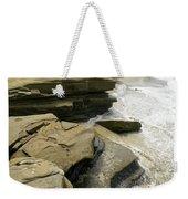 Seaside With Rocks On Left Weekender Tote Bag