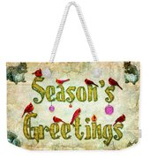 Season's Greetings Card Weekender Tote Bag