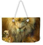 Seasons Of The Lion Weekender Tote Bag by Carol Cavalaris