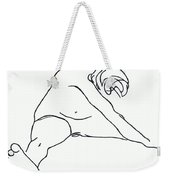 Seated Figure Weekender Tote Bag