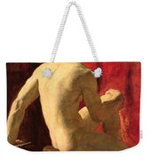 Seated Male Model Weekender Tote Bag by William Etty