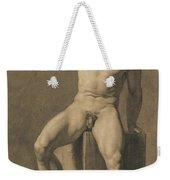 Seated Male Nude Weekender Tote Bag