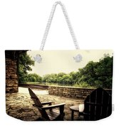 Seating For Two By The Creek Weekender Tote Bag