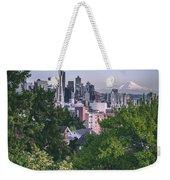 Seattle And Mt. Rainier Vertical Weekender Tote Bag