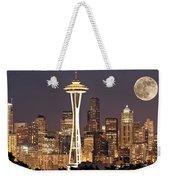 Seattle Full Moon Weekender Tote Bag