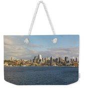Seattle City Skyline Along Lake Union Weekender Tote Bag