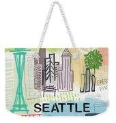 Seattle Cityscape- Art By Linda Woods Weekender Tote Bag