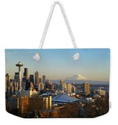 Seattle Cityscape Weekender Tote Bag