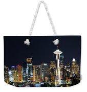 Seattle Night Sky Weekender Tote Bag
