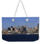 Seattle Panoramic Weekender Tote Bag by Adam Romanowicz