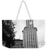 Seattle - Pioneer Square Tower Bw Weekender Tote Bag