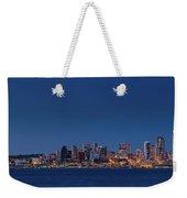 Seattle Skyline In Twilight With Clear Sky Weekender Tote Bag