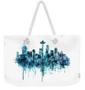 Seattle Skyline Monochrome Watercolor Weekender Tote Bag