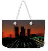 Seattle Skyline Motion Weekender Tote Bag