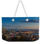 Seattle Skyline Panorama Weekender Tote Bag
