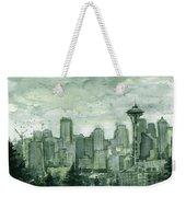 Seattle Skyline Watercolor Space Needle Weekender Tote Bag