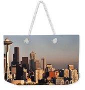 Seattle Sunset Panorama Weekender Tote Bag