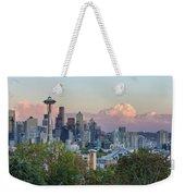 Seattle Washington City Skyline At Sunset Weekender Tote Bag