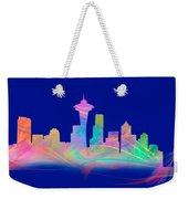 Seatttle Skyline Rainbow Watercolor Weekender Tote Bag