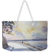 Seawall After Rain Weekender Tote Bag