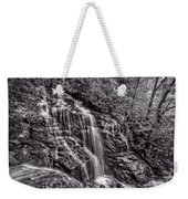 Secluded Falls - Bw Weekender Tote Bag