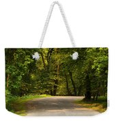 Secluded Forest Road Weekender Tote Bag