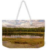 Secluded Lake Weekender Tote Bag