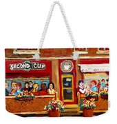 Second Cup Coffee Shop Weekender Tote Bag