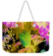 Second Take Abstract Green Blue Flowers Weekender Tote Bag