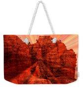 Sedona Sunset Energy - Abstract Art Weekender Tote Bag by Carol Groenen