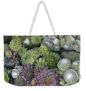 Sedum Plants Used As Green Roof Weekender Tote Bag