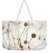 Seed Heads In The Snow Weekender Tote Bag