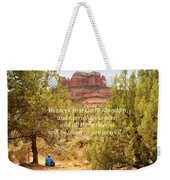 Seek First God's Kingdom Weekender Tote Bag