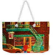 Segal's Fruit And Variety Store Weekender Tote Bag