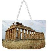 Segesta Greek Temple In Sicily, Italy Weekender Tote Bag
