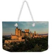 Segovia Alcazar And Cathedral Golden Hour Weekender Tote Bag