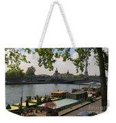 Seine Barges In Paris In Spring Weekender Tote Bag